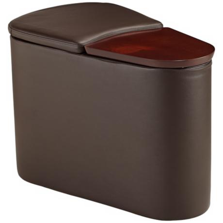 Kona Brown Faux Leather Companion E-Table