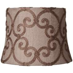 Leiden Taupe Modified Drum Shade 10x12x9 (Spider)