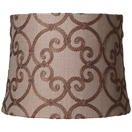 Leiden Taupe Modified Drum Shade 14x16x12 (Spider)