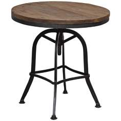 Akron Collection Reclaimed Wood Adjustable Table