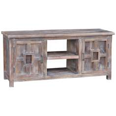 Avalon Distressed Wood Flat Screen TV Stand