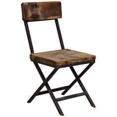 Franklin Collection Reclaimed Pine Wood Side Chair