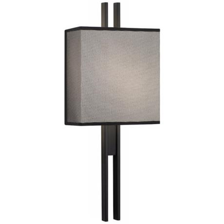 "Sonneman Tandem 9"" Wide Satin Black Wall Sconce"