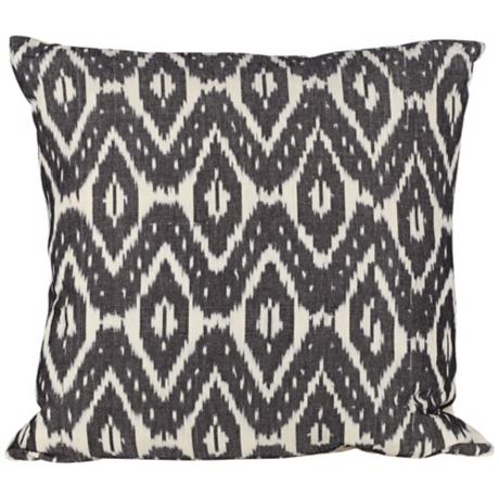 "Butterfly Ikat Canvas 20"" Square Down Throw Pillow"