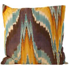 "Tribe Ikat Canvas 20"" Square Down Throw Pillow"