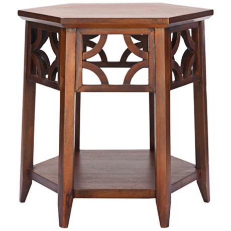 Tillson Light Brown Mahogany Side Table