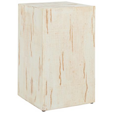 Safavieh Zachary Distressed White End Table
