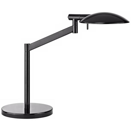Robert Sonneman Perch Gloss Black Desk Lamp