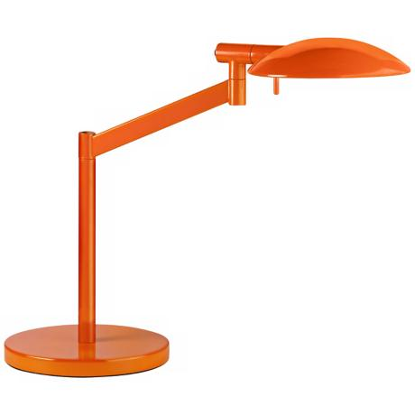 Robert Sonneman Perch Gloss Orange Desk Lamp