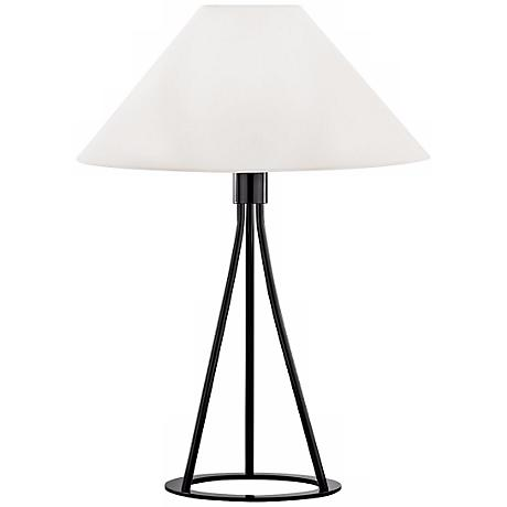 Sonneman Tetra Gloss Black Table Lamp
