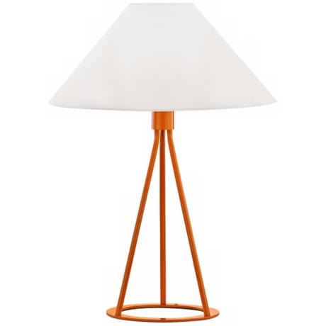 Sonneman Tetra Gloss Orange Table Lamp
