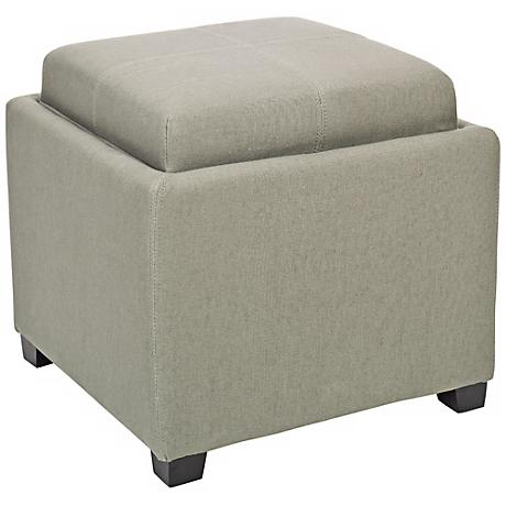 Wisemond Single Tray Grey Ottoman