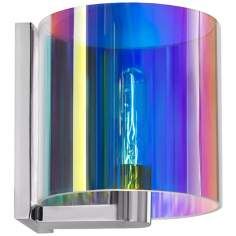 "Sonneman Delano 7 3/4"" Wide Dichroic Chrome Wall Sconce"