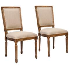 Safavieh Set of 2 Ashton Sand Side Chairs