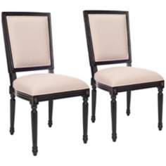 Safavieh Set of 2 Ashton Black Side Chairs