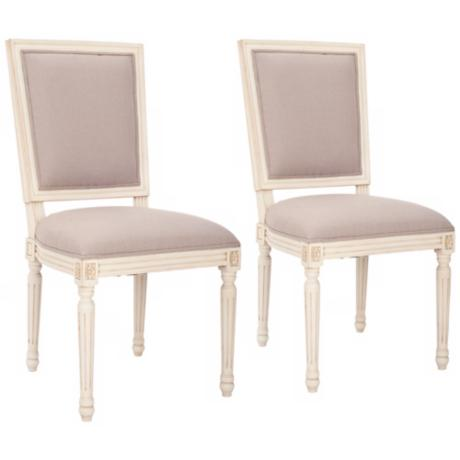 Safavieh Set of 2 Ashton White Side Chairs