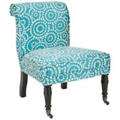 Safavieh Orson Blue and White Accent Chair