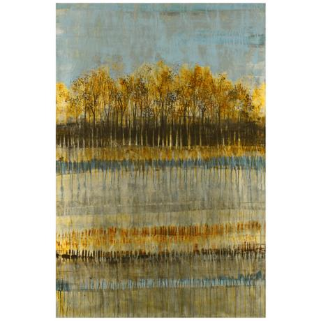 "Beach Trees 36"" Square Landscape Wall Art"