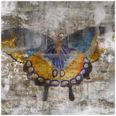 "Undergrowth I 36"" Square Butterfly Wall Art"