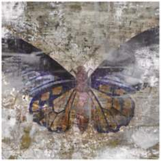 "Undergrowth IV 36"" Square Butterfly Wall Art"