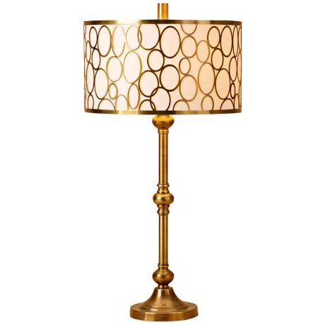 Raschella Coffee Bronze Metal Table Lamp