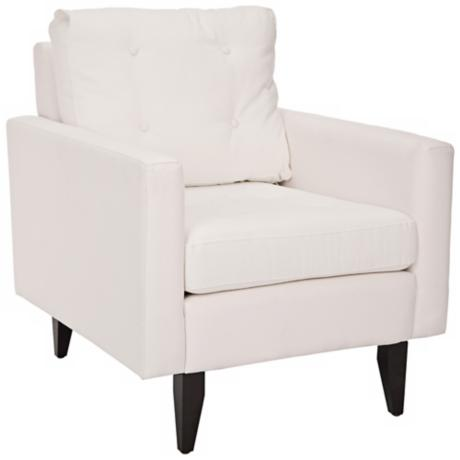 Caleb White Linen Club Chair