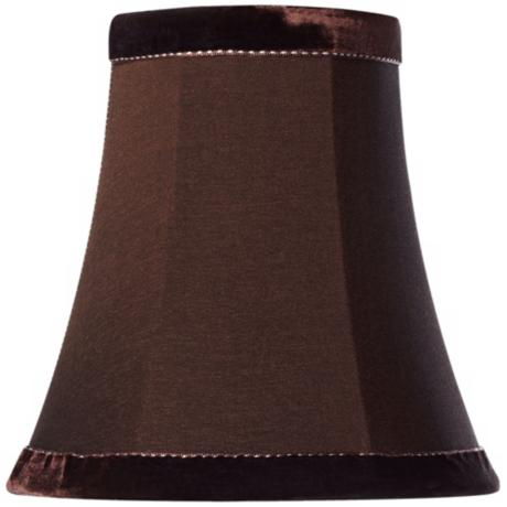Velvet Trim Brown Shade 3.5x6x6 (Clip-On)