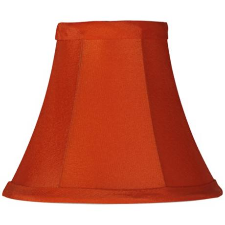 Bold Orange Bell Lamp Shade 3x6x5 (Clip-On)