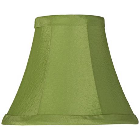 Lime Green Fabric Lamp Shade 3x6x5 (Clip-On)