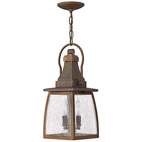 "Hinkley Montauk Sienna 17 1/4"" High Outdoor Hanging Light"