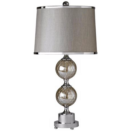 Raschella Chrome Bubble Glass Table Lamp