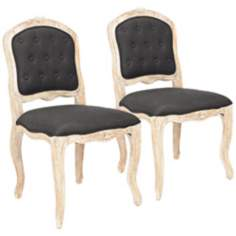 Safavieh Set of 2 Carissa Black Side Chairs