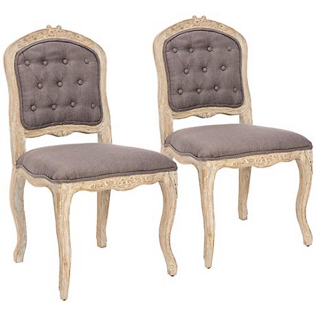 Set of 2 Divitt Light Brown Side Chairs