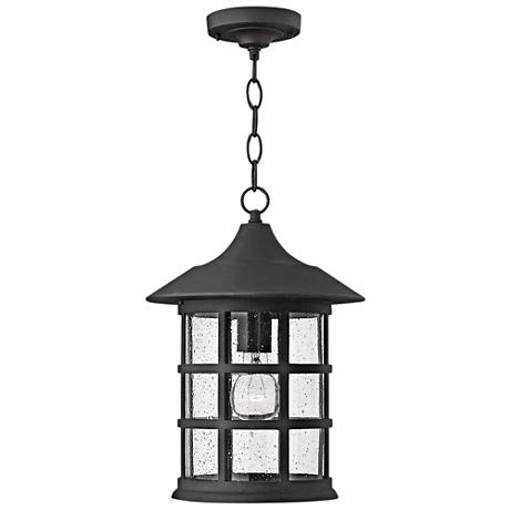 "Hinkley Freeport Black 14"" High Outdoor Hanging Light"