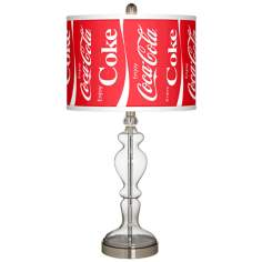 Enjoy Coca-Cola® Apothecary Clear Glass Table Lamp