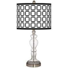 Open Grid Giclee Apothecary Clear Glass Table Lamp
