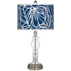 Jungle Rain Giclee Apothecary Clear Glass Table Lamp