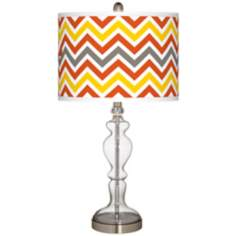 Flame Zig Zag Giclee Apothecary Clear Glass Table Lamp