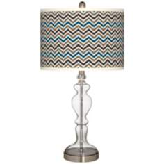 Zig Zag Giclee Apothecary Clear Glass Table Lamp