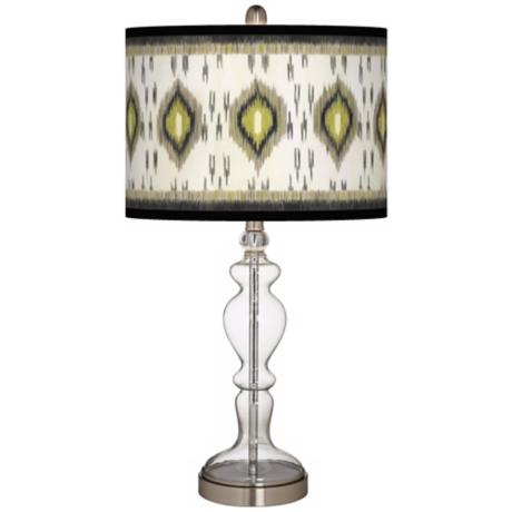 Desert Ikat Giclee Apothecary Clear Glass Table Lamp