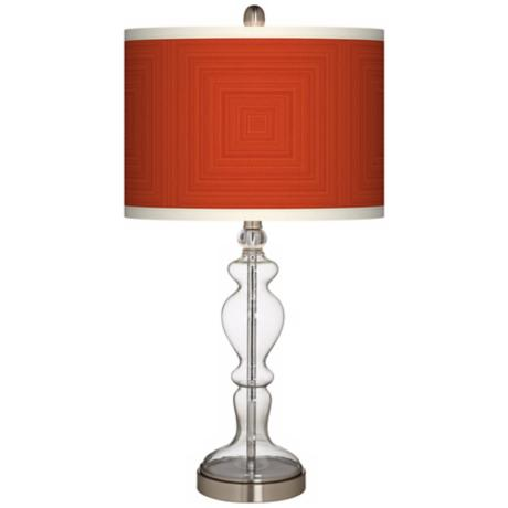Stacy Garcia Crackled Square Coral Apothecary Table Lamp