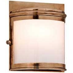 "Rotterdam 9 1/4"" High Solid Brass Outdoor Pocket Sconce"