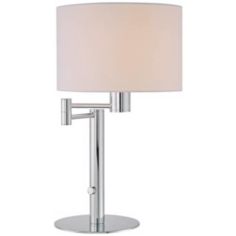 Lite Source Gervasio Chrome Swing Arm Desk Lamp