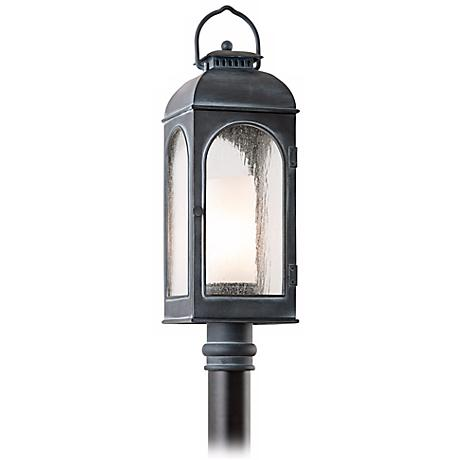 "Derby 26 1/4"" High Antique Iron Outdoor Post Light"