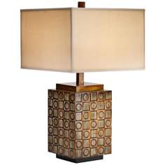 Raschella Hand-Carved Wood Table Lamp