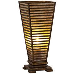 Raschella Lattice Mica and Bronze Accent Table Lamp