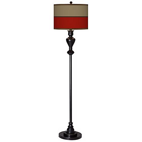 Empire Red Giclee Glow Black Bronze Floor Lamp