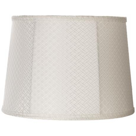 White Lattice Collection Drum Shade 12x14x10 (Spider)