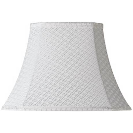 White Lattice Rectangle Shade 6/8x11/14x10 (Spider)