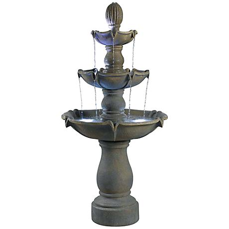Kenroy Home Sherwood Graystone 3-Tier Garden Fountain